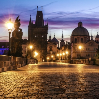 Prague Charles Bridge - Obrázkek zdarma pro 128x128