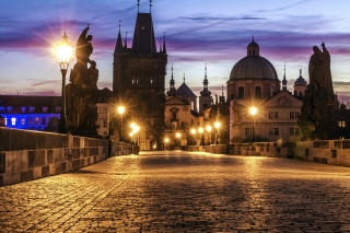 Prague Charles Bridge Background for Android, iPhone and iPad
