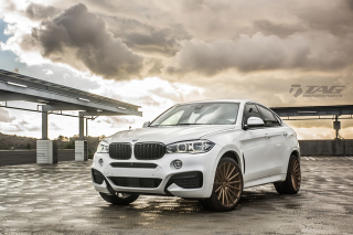 Free BMW X6 Vossen Wheels VVS CV3 Picture for Android, iPhone and iPad