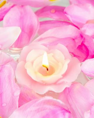 Candle on lotus petals - Obrázkek zdarma pro Nokia C6-01