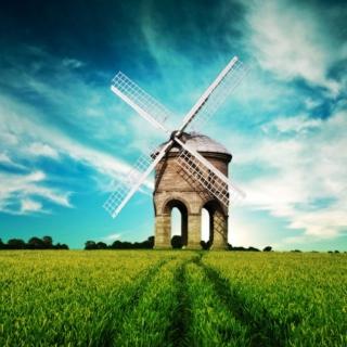 Windmill In Field - Obrázkek zdarma pro iPad