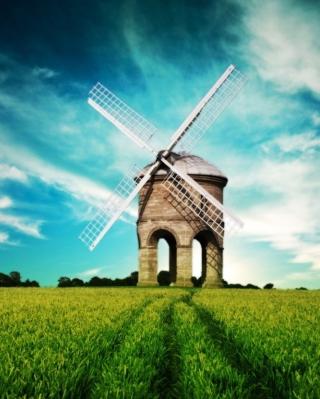 Windmill In Field - Obrázkek zdarma pro Nokia Asha 311