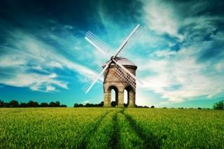 Windmill In Field - Obrázkek zdarma pro HTC Desire
