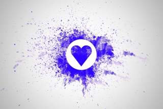 Blue Heart Splash Wallpaper for Android, iPhone and iPad