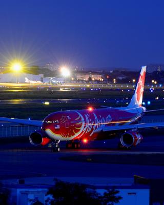 Airbus A330 Air Asia - Obrázkek zdarma pro 640x960