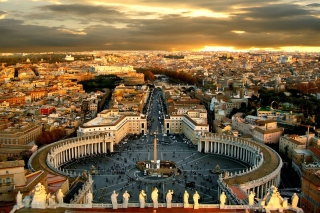 St. Peter's Square in Rome Wallpaper for Android, iPhone and iPad