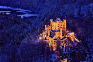 Hohenschwangau Castle Wallpaper for Nokia Asha 200