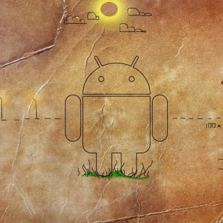 Android HD Logo - Obrázkek zdarma pro 320x320