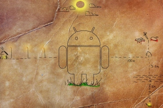 Android HD Logo - Obrázkek zdarma pro HTC Desire
