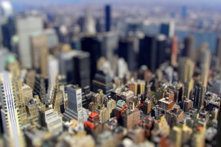 Tilt-Shift New York City Background for Android, iPhone and iPad