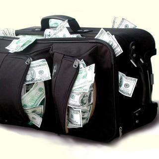Case with Dollars - Obrázkek zdarma pro iPad