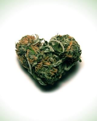 I Love Weed Marijuana - Obrázkek zdarma pro Nokia Asha 502