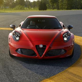 Alfa Romeo 4C Front View - Obrázkek zdarma pro 1024x1024