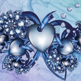 Fractal Hearts - Obrázkek zdarma pro iPad Air
