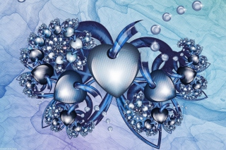 Fractal Hearts Wallpaper for Android, iPhone and iPad