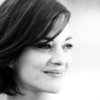 Marion Cotillard Black And White Portrait - Obrázkek zdarma pro iPad mini 2
