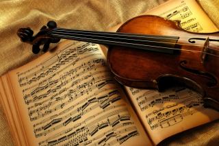 Картинка Violin And Notes для телефона
