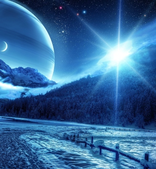 Blue Shine - Obrázkek zdarma pro iPad Air