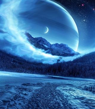 Blue Shine - Obrázkek zdarma pro Nokia Asha 202