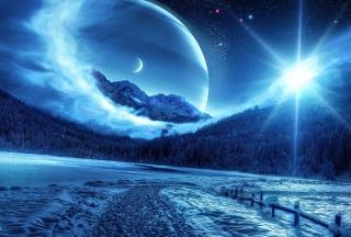 Blue Shine - Obrázkek zdarma pro Fullscreen Desktop 1024x768