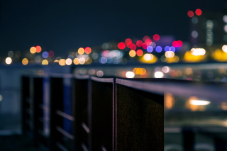 Degradation Macro Bokeh City Wallpaper for Android, iPhone and iPad