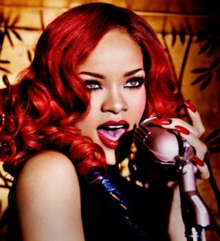 Rihanna Singing - Obrázkek zdarma pro 2048x2048