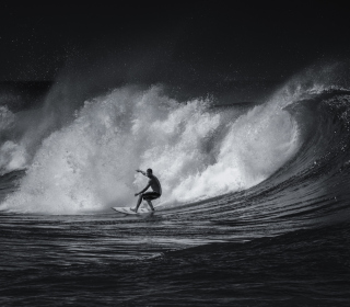 Black And White Surfing - Obrázkek zdarma pro iPad Air