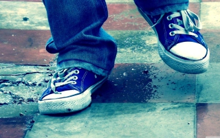 Blue Shoes - Obrázkek zdarma pro 1400x1050
