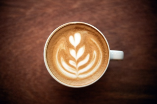 Cappuccino Foam Art Background for Android, iPhone and iPad