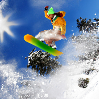 Snowboard Freeride - Obrázkek zdarma pro 128x128