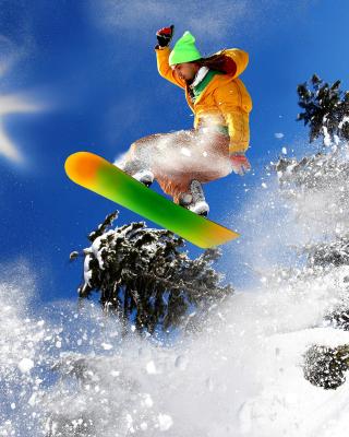 Snowboard Freeride - Obrázkek zdarma pro 480x800