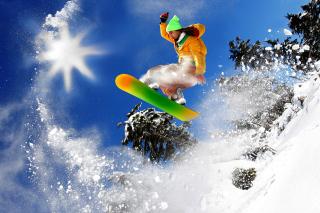 Snowboard Freeride - Obrázkek zdarma pro Samsung Galaxy Tab 4 8.0