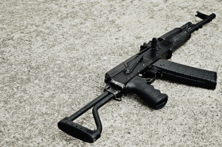 Rifle Saiga Background for Android, iPhone and iPad