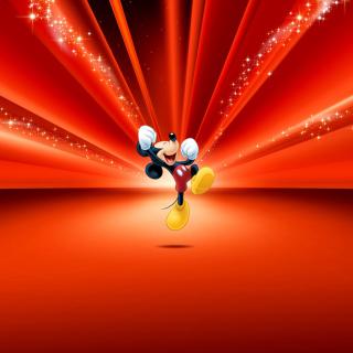 Mickey Mouse Disney Red Wallpaper - Obrázkek zdarma pro iPad 3