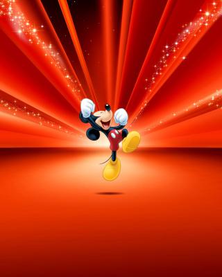 Mickey Mouse Disney Red Wallpaper - Obrázkek zdarma pro Nokia Asha 311