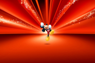 Mickey Mouse Disney Red Wallpaper - Obrázkek zdarma