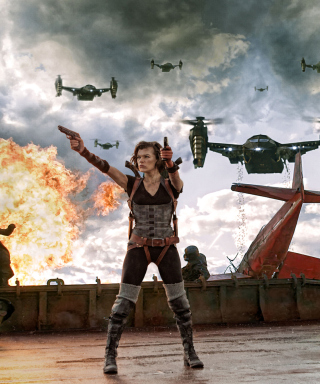 Resident Evil Retribution - Obrázkek zdarma pro 480x640