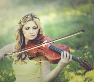 Girl Violinist - Obrázkek zdarma pro 1024x1024