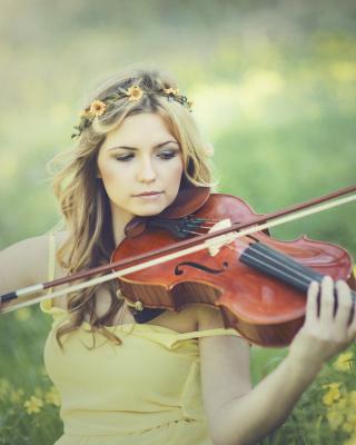 Girl Violinist - Obrázkek zdarma pro 352x416