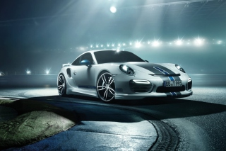 Porsche Racing Car Background for Android, iPhone and iPad