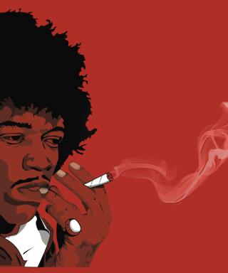Jimi Hendrix - Obrázkek zdarma pro Nokia C-5 5MP