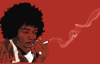 Jimi Hendrix - Obrázkek zdarma pro Samsung Galaxy Tab 7.7 LTE