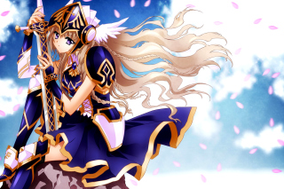 Anime warrior girl Wallpaper for Android, iPhone and iPad