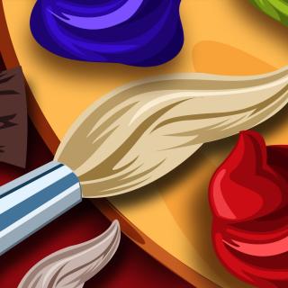 Color palette for artist - Obrázkek zdarma pro 320x320