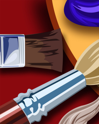 Color palette for artist - Obrázkek zdarma pro 320x480