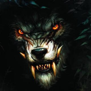 Werewolf Artwork - Obrázkek zdarma pro iPad Air