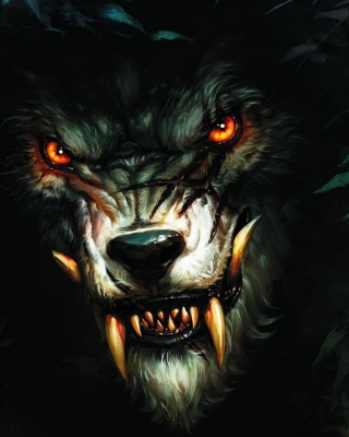 Werewolf Artwork - Obrázkek zdarma pro Nokia Asha 310