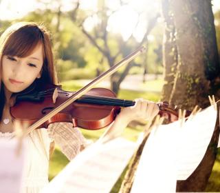 Playing Violin - Obrázkek zdarma pro 1024x1024