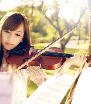 Playing Violin - Obrázkek zdarma pro 352x416