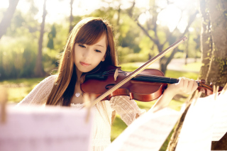 Playing Violin - Obrázkek zdarma pro 1024x600